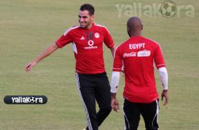 تدريبات المنتخب المصري استعداداً لغانا
