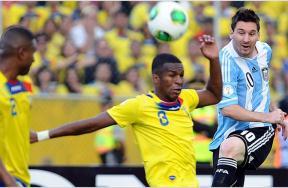 مباراة الإكوادور و الأرجنتين