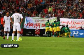 الشوط الأول لمباراة مصر والسنغال