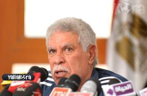 المؤتمر الصحفى لحسن شحاته المدير الفنى للمقاولون