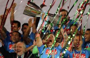 فرحة نابولي بالتتويج بكأس السوبر الإيطالي