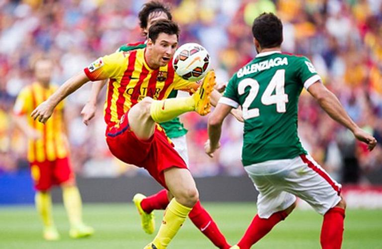 ميسي لاعب برشلونة في المباراة