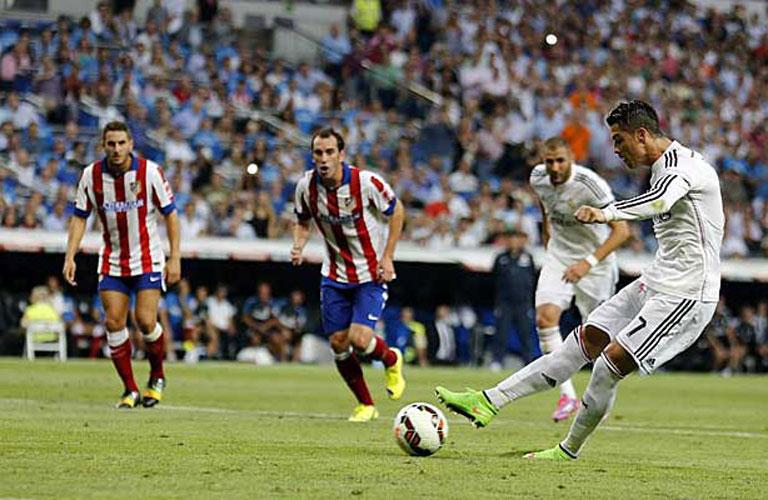 رونالدو يسدد هدف الريال الوحيد فى المباراة