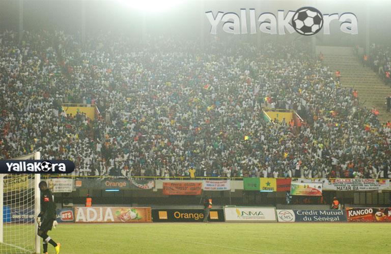 الجمهور السنغالى اثناء اللقاء