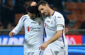 مباراة انترناسيونالي وفيورنتينا بمشاركة محمد صلاح