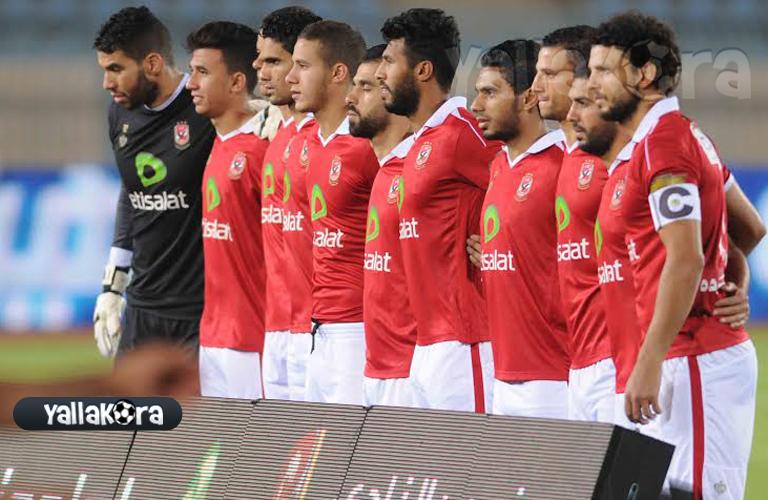 صورة تذكارية لفريق الاهلي قبل المباراة