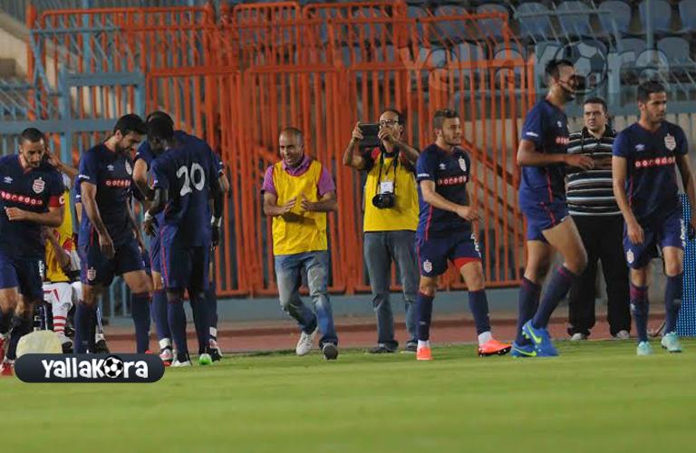 فرحة لاعبي الافريقي بهدفه فى مرمي الاهلي