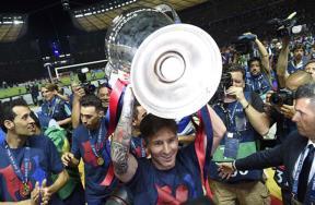 تتويج برشلونة بدوري الأبطال