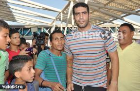 استقبال إيهاب عبد الرحمن بمطار القاهرة