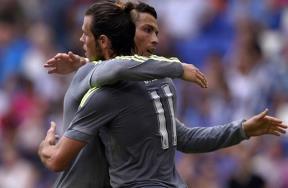 فرحة رونالدو بعد ان اصبح الهداف التاريخي للريال