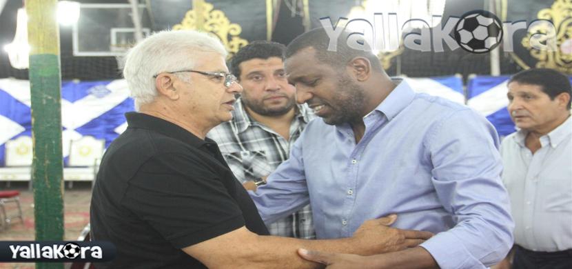 ربيع ياسين فى عزاء احمد ماهر