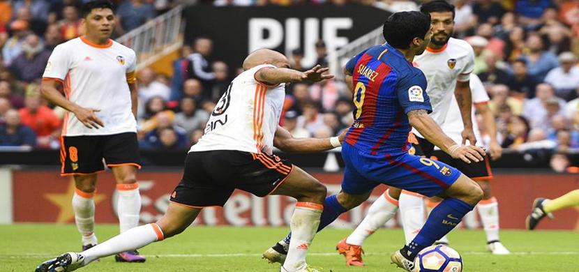 لقطة لسواريز فى المباراة