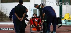 اصابة نيدفيد فى مباراة بتروجيت والأهلي