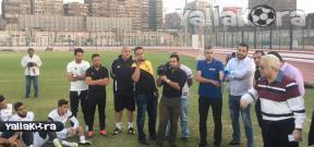 اجتماع مرتضي منصور مع لاعبي الزمالك
