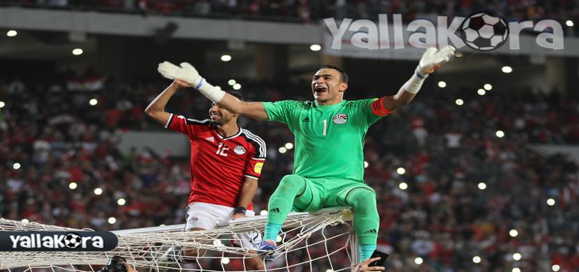 احتفال خاص للحضري بعد فوز مصر على غانا