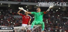 احتفال خاص للحضري بعد فوز مصر