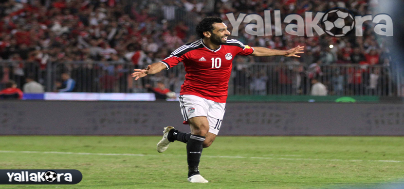 احتفال محمد صلاح