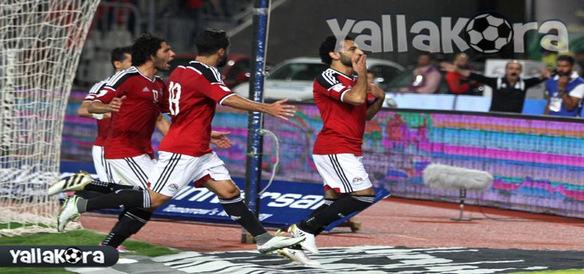 احتفال لاعبى منتخب مصر