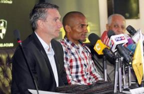 المؤتمر الصحفى لتقديم مالودا لاعب دجلة الجديد