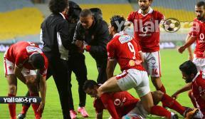 فرحة لاعبو الأهلى بعد الفوز على الزمالك