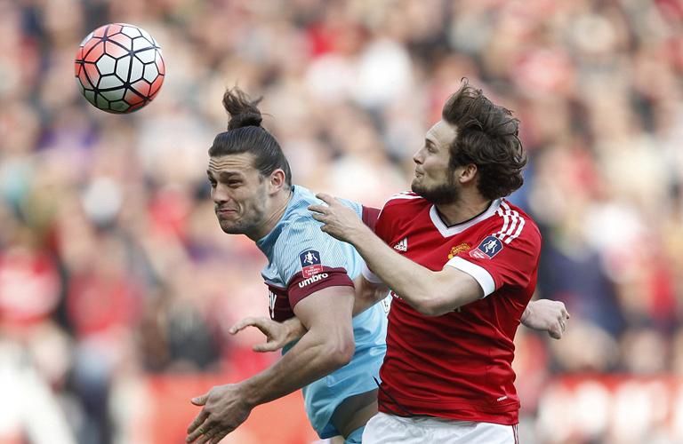 لقطة من مباراة مانشستر يونايتد ووستهام