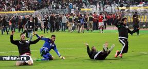احتفالات لاعبو منتخب مصر بعد الفوز على نيجيريا