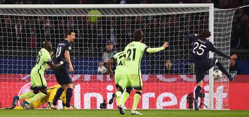 لحظة احراز رابيو هدف فى المباراة