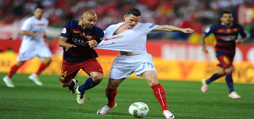 لقطة لماسكيرانو فى المباراة