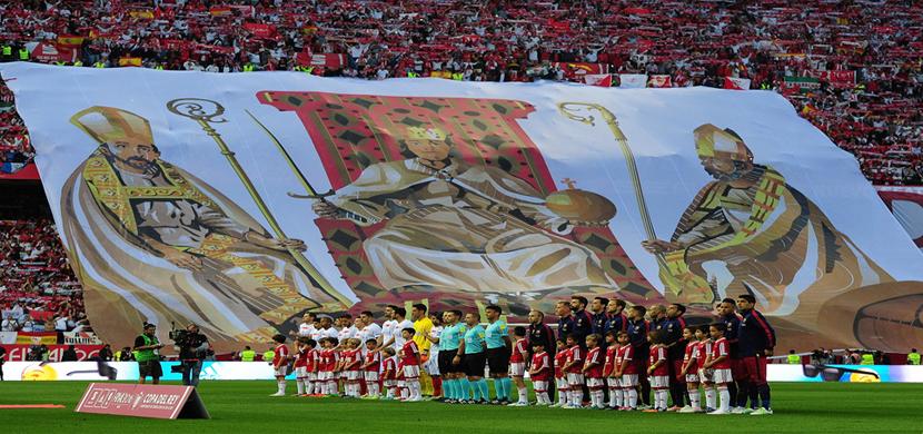 لقطة للجماهير قبل بداية المباراة