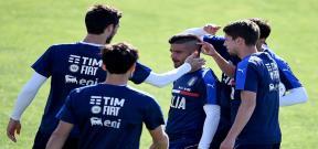 تدريب منتخب ايطاليا استعداداً لليورو