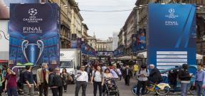استعدادات مدينة ميلانو لنهائى دوري أبطال أوروبا
