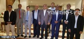 زيارة سفير مصر بالمغرب لبعثة النادي الأهلي
