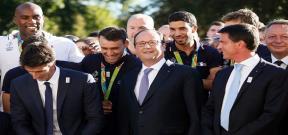 استقبال رئيس فرنسا لبعثة بلاده الاولمبية