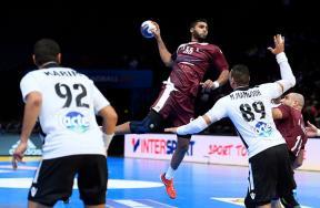 مباراة قطر ومصر في بطولة العالم لليد