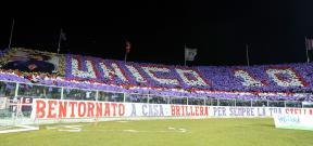 تيفو جماهير فيورنتينا أمام يوفنتوس