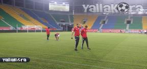 معاينة منتخب مصر لأرضية ملعب مباراة مالي
