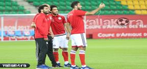سيلفي بين لاعبي منتخب مصر قبل لقاء مالي