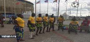 الفلكلور الإفريقي قبل مباريات مجموعة مصر