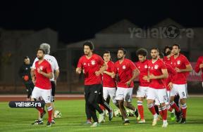 مران مصر الاخير قبل مباراة اوغندا