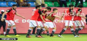 احتفال لاعبي مصر بعد هدف السعيد فى أوغندا