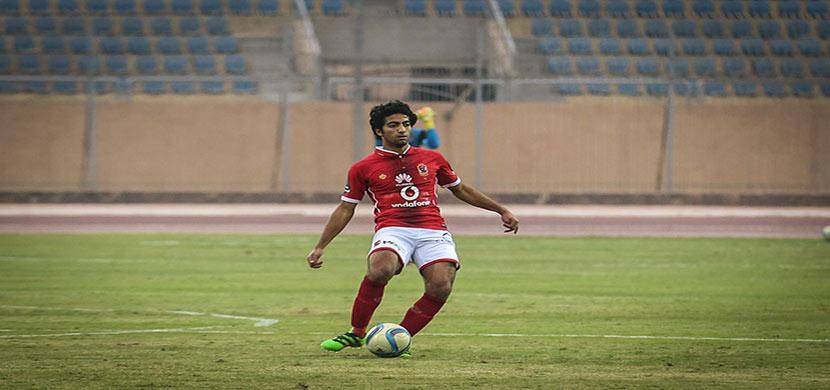 عمرو بركات فى المباراة