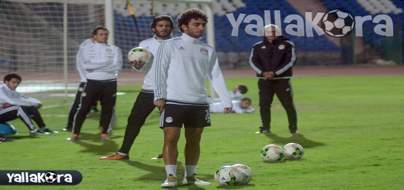 عمرو ورده بتدريبات منتخب مصر