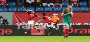 مباراة مصر والمغرب واحتفال اللاعبين
