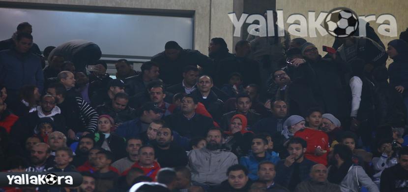 جمال وعلاء مبارك فى مباراة مصر وتونس