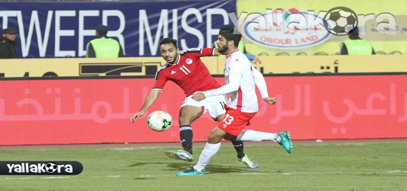 كهربا فى مباراة مصر وتونس