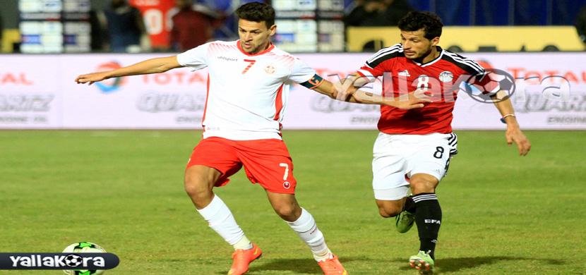 لقطة لطارق حامد فى المباراة
