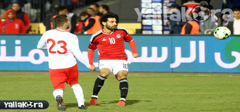 صلاح فى مباراة مصر وتونس