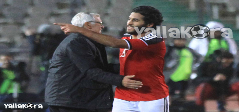احتفال مروان محسن مع كوبر