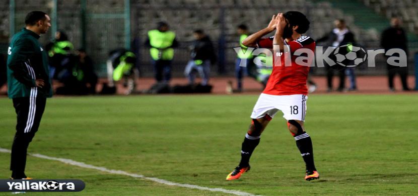 احتفال مروان محسن بعد احرازه هدف مصر