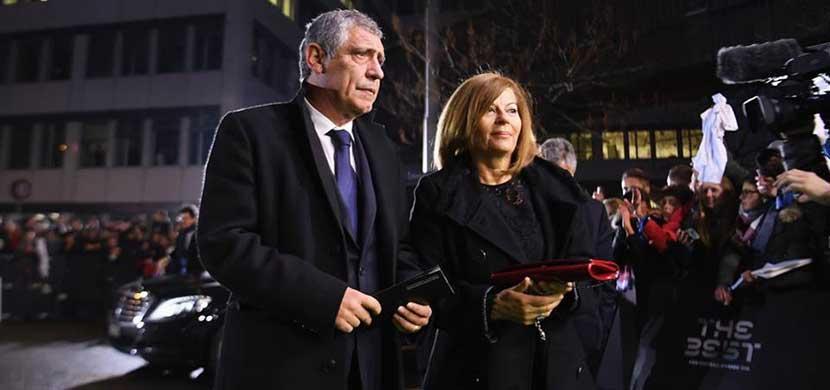 سانتوس المدير الفنى للبرتغال وزوجته